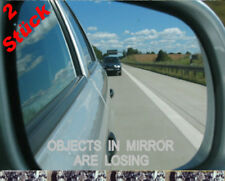 2x OBJECTS IN MIRROR ARE LOSING  Aufkleber Leider Geil  Shocker jdm oem 80x16mm