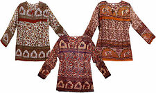 LOT 3pc@GBP21.99 Hippie VINTAGE LOOK Gypsy Indian cotton blouse Top blusa ETHNIC