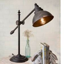 Country new distressed tin adjustable swing arm desk lamp / nice