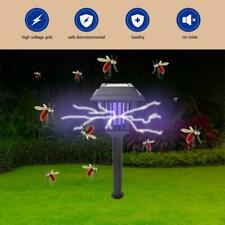 2LED Lawn Solar Mosquito Killer Light Insect Pest Bug Zapper Lamp Garden Outdoor
