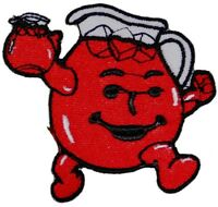 HEY KOOL-AID MAN Logo Iron on or Sew on Patch Emblem Red Koolaid Embroidered