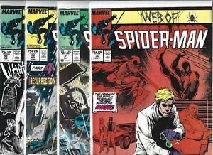 Web of Spider-Man #30, #31, #32, #33, #34, #35, #36 & #37 (1987-88, Marvel)