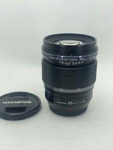 Olympus M. Zuiko ED 25mm f/1.2 PRO Lens Near Mint Condtion!