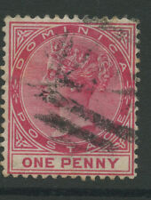 Dominica SG22a 1887 1d deep carmine Used P14 Cat £ 14