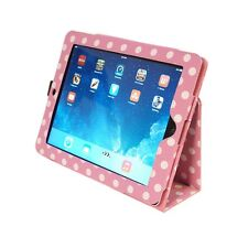 NEW Kyasi Seattle Classic Tablet Folio Case for Apple iPad Air Pink Polka Dots