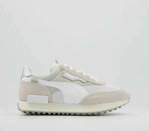 Womens Puma Future Rider Trainers Grey Violet White Marshmallow Trainers Shoes