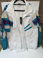 Brand New Diadora Men's MVB Wind Full Zip Track Jacket (White/Size L)
