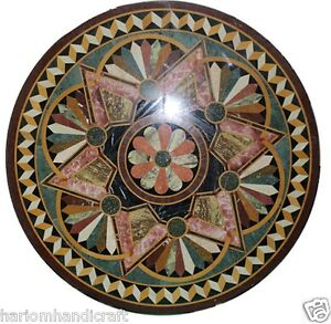 "30"" Marble Coffee Inlay Table Top & FREE Jewelry Box Home Decor Wedding Gift Art"