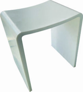 Designer Sask Solid Surface Premium Bathroom Stool