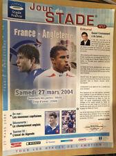 PROGRAMME MATCH FRANCE-ANGLETERRE 2004 TOURNOI DES VI NATIONS RUGBY