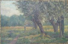 HENRY MARIE CHARRY TABLEAU SOUS BOIS CIRCA 1920 PEINTRE LORRAIN / OEUVRE RARE