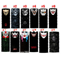 Skull Face Shield Sun Mask Balaclava Neck Gaiter Bandana Neckerchief Headwear UV