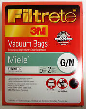 5 bags + 2 filters Miele Type G/N Vacuum Bags, Filtrete 3M brand, Part 68705