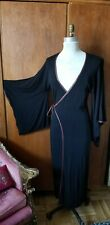 New listing Japanese Kimono dress Vintage black Cotton Jersey Kimono dress robe size 8