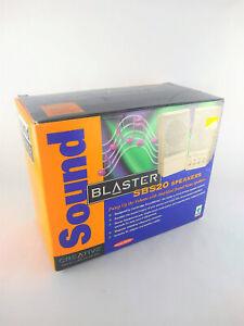 Creative Sound Blaster SBS20 PC Computer Speakers w Box & Manual Cambridge Vtg