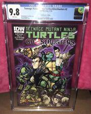 IDW TMNT Teenage Mutant Ninja Turtles Ghostbusters 2 COMICXPOSURE CGC 9.8 NM M