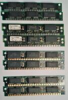 Vintage Rare 30-pin Memory RAM, including IBM TP11A1090BA-70 paired lot of eight