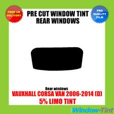 OPEL CORSA VAN 2006-2014 (D) 5% Limousine hinten Vorgeschnittene Scheibentönung