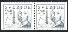 Sweden 1982 MNH Pair, Anders Celsius Swedish Astronomer, Invented Thermometer