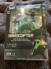 X/B Nanocopter Predator 2Ch I/R Mini Infrared Remote Control Helicopter NEW