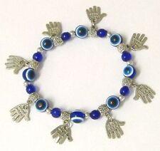 HAMSA Kabbalah BRACELET with Blue Lucky Beads - - - -Good Luck, against evil eye