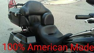 MADE IN USA Harley Drivers backrest for Ultra Classic, Electra Glide Adjustable
