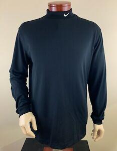 NIKE GOLF Men's Tour Performance Mock Neck Long Sleeve Golf Pullover Shirt Sz L