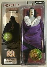 """Mego Action Figures, 8"""" New Mego Glow in The Dark Dracula with Purple Cape NEW"""