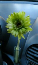 Volkswagen VW New Beetle GREEN Daisy Silk Flower plus 1 Original Clear Vase NEW!