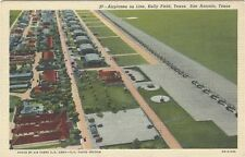 1940 postcard - Airplanes on Line, Kelly Field,  San Antonio, Texas