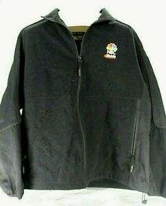 North End NBC Mobile Embroidered Rainbow Logo Black Unisex Polyester Jacket XL
