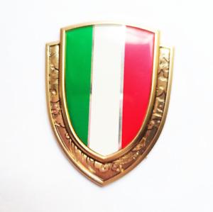 3D Gold Metal Italy Italian Flag Car Accessories Door Trunk Emblem Badge Sticker