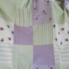 Patchwork Style Polka dot Lilac and Green Lined Curtains W65 x L72 Inches