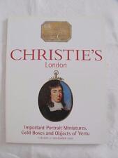 CHRISTIE'S LONDON AUCTION CATALOGUE - 21st NOVEMBER 1999 - OBJECTS of VERTU