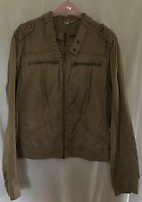 M&S Indigo Ladies Beige (Stone) Cotton Biker Jacket, size 18