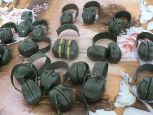 British Military Peltor Ear Defenders. Ex-MOD issue Noise Reducer Khaki