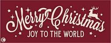 Primitive STENCIL MERRY CHRISTMAS JOY TO THE WORLD Reindeer Holiday Peace Joy