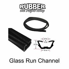 "Universal Window Run Channel - Flexible - 17/32"" Tall 9/16"" Wide at Base"