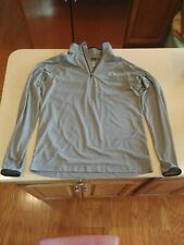 Under Armour 1/4 Zip Pullover Shirt Size M Mens Gray All Season Gear Free Ship