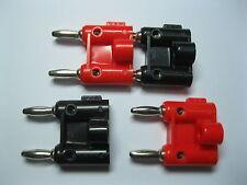 40 pcs Screw Type Dual Banana Plug Speaker Connectors 436 + Type Red Black New