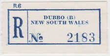 (RB55) 1950 NSW registration label DUBBO (B) no2183