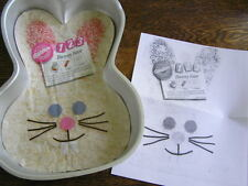 Wilton 1992 Easy as 1 2 3 BUNNY FACE Cake Pan Mold w/ Insert & Instructions