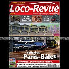LOCO REVUE N°748 BELLURBES PARIS-BÂLE 2D2 5500 Z-7100 8000 ELECTRIFICATION 2009