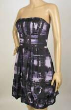 $298 NWT BCBG MAXAZRIA STRAPLESS TAFFETA ROSETTE DRESS 6