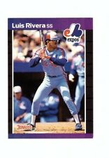 1989 Donruss Baseball Card #578 Luis Rivera Montreal Expos