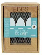 HIGH QUALITY 12 EGGS HOLDER UNIT SHELF SOLID WOOD EGG HOUSE RUBBERWOOD CABINET