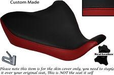 Rojo oscuro y negro Custom Fits Yamaha Mt 07 13-15 Frontal De Cuero Funda De Asiento