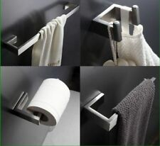 Bath Accessory Sets Paper /Robe Holder Towel Bar of 4PCS ,Brushed Nickel SUS 304