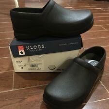 NEW Klogs Boca clogs slip resistant nursing shoes womens size 9 BLACK