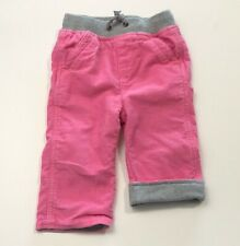 HANNA ANDERSSON Pink Jersey Lined Corduroy Pants Size 75 (12-18 Months)